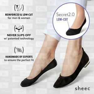 Best Women/'s No-Show Socks for Dressy /& Loafer Shoes Sheec SECRET 2.0 MID-CUT
