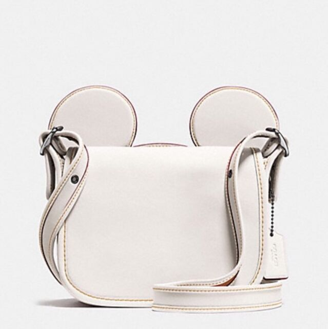 48f24ee4 Disney X Coach F59369 Patricia Saddle Glove Calf Leather With Mickey Ears