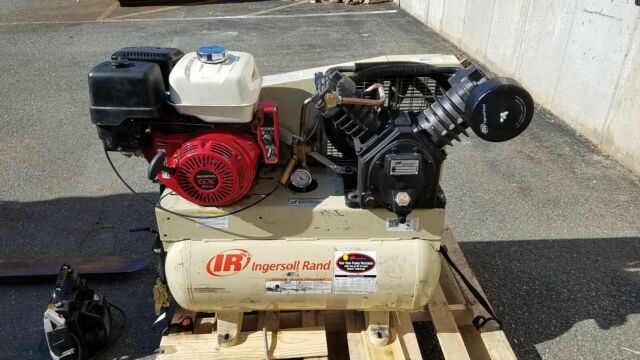 13 HP Horizontal Air Compressor with Alternator Model# 2475F13GH Ingersoll Rand 25 CFM @ 175 PSI