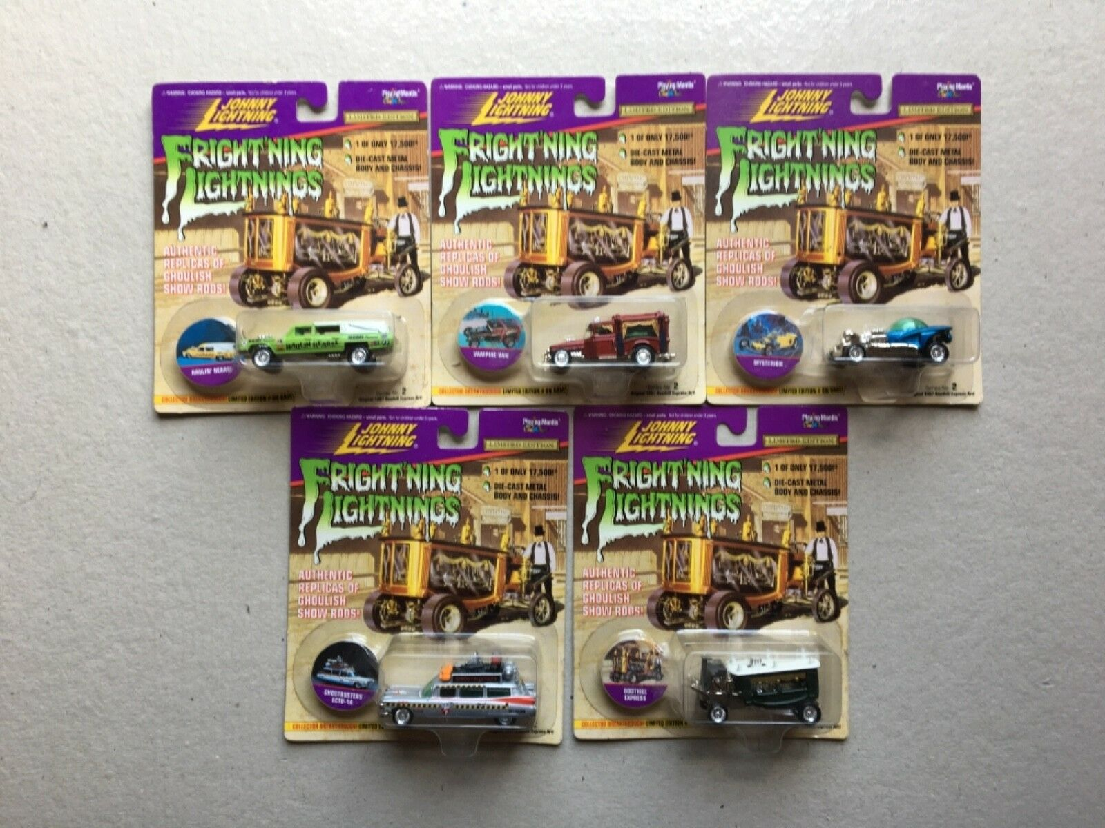Johnny lightning Frightning lightning Series 2 {5out of a set of 7}