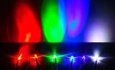 10pcs 5mm DC 9-12V Pre-Wired Water Clear White Red Blue Green UV LED Diodes