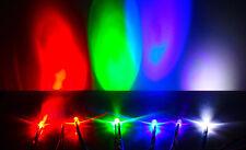 10pcs 5mm Led 9 12v Pre Wired White Red Blue Green Uv Light Emitting Diode Lamp