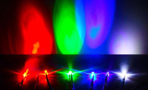 10pcs 5mm LED 9-12V Pre Wired White Red Blue Green UV Light Emitting Diode Lamp