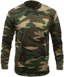Camouflage-Longsleeve-Camo-T-Shirt-Shirt-Tee-langaermlig-Tarn-Bundeswehr-Armee