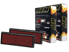 [SET OF 2] AEM 28-20181 STOCK REPLACEMENT WASHABLE REUSABLE PANEL AIR FILTER