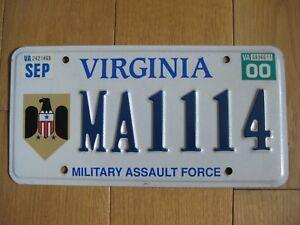 USA Nummernschild - Virginia - Military Assault Force