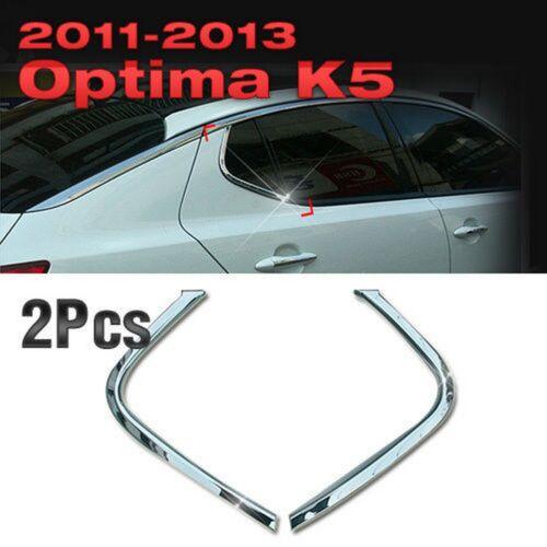 K5 Chrome C Pillar Window Sill Molding Trim B914 Fit KIA 2011 2012 2013 Optima