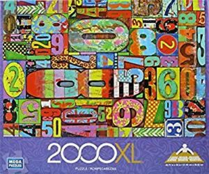 "Mega Puzzle 2000Xl new 12"" x 9.9"" x 2.1"" ages 3+"