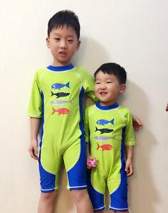 Swimwear Piece Sunscreen Surfing Boys Swimsuit One Suit Kids Bathing Swim New IZpwEE