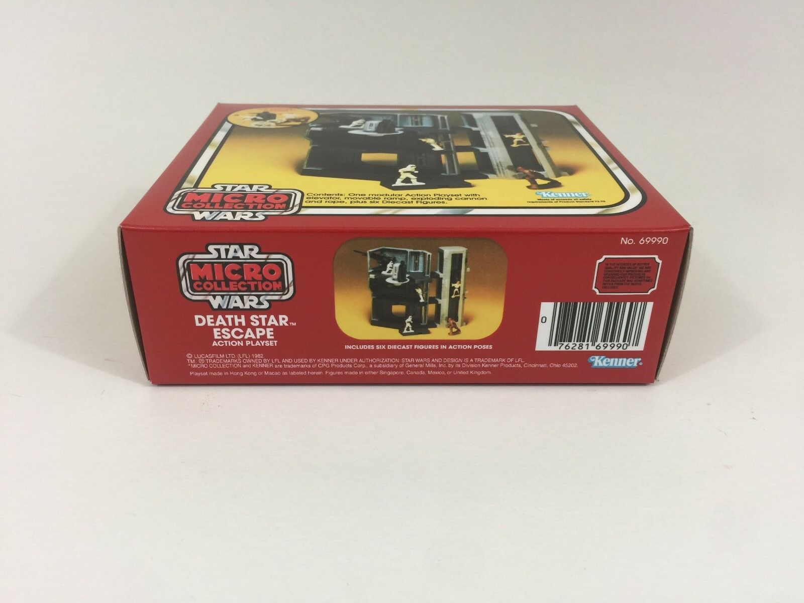 Replacement vintage star wars micro collection death death death star escape box + inserts 75490d