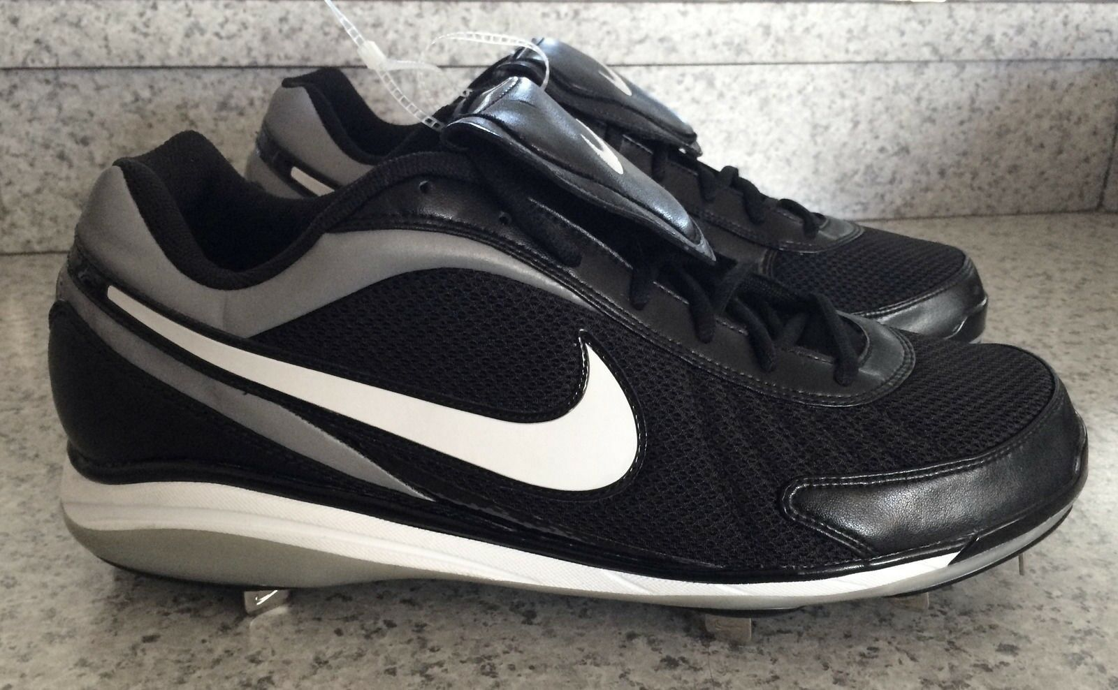 NIKE Air Zoom Coop V 5 Black White Metal Spike Baseball Cleats NEW Mens Comfortable Cheap and beautiful fashion