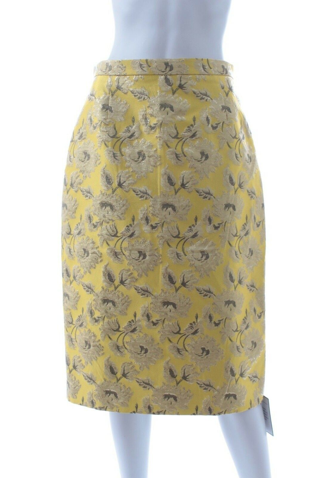 Prada Lurex Jacquard Pencil Skirt   Yellow   RRP  .00