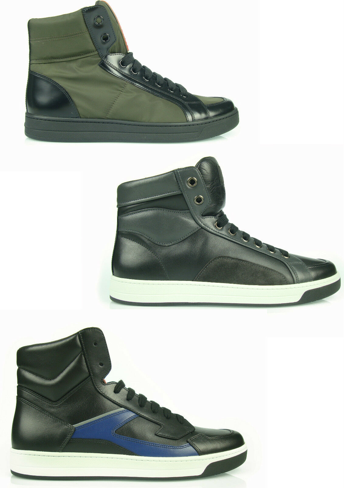 550 MB2de PRADA SNEAKERS MAN HI TOP shoes SHOES HERRENSHUHE 100% AUTENTICH