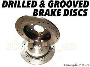 drilled grooved rear brake discs seat ibiza iv 6l1 1 9 tdi cupra r 2004 on ebay. Black Bedroom Furniture Sets. Home Design Ideas