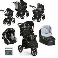 Hauck Viper Trio Slx 3 Wheel Pushchair Stroller Caviar / Grey From Birth