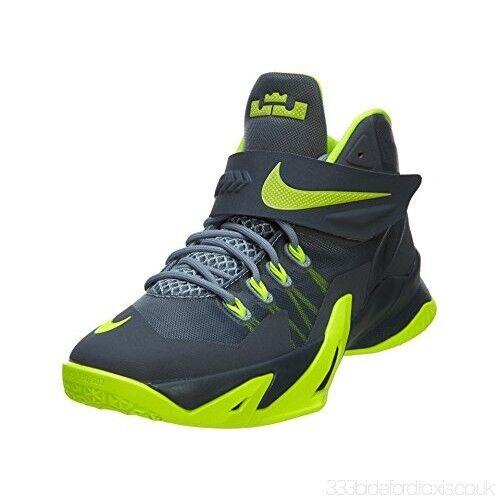 new arrival a9f97 580db Nike Soldier VIII GS Lebron Basketball Shoe Sz 7Y NEW 653645 002 MagnetGrey  Volt