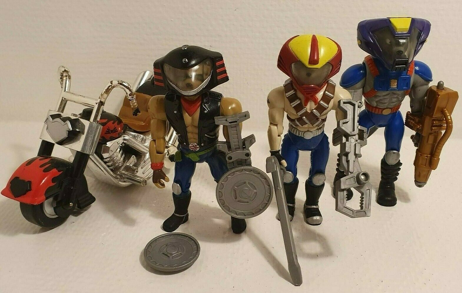 Biker Mice From Mars - Throttle Vinnie Mondo With Weapon's - Vintage Galoob 90s