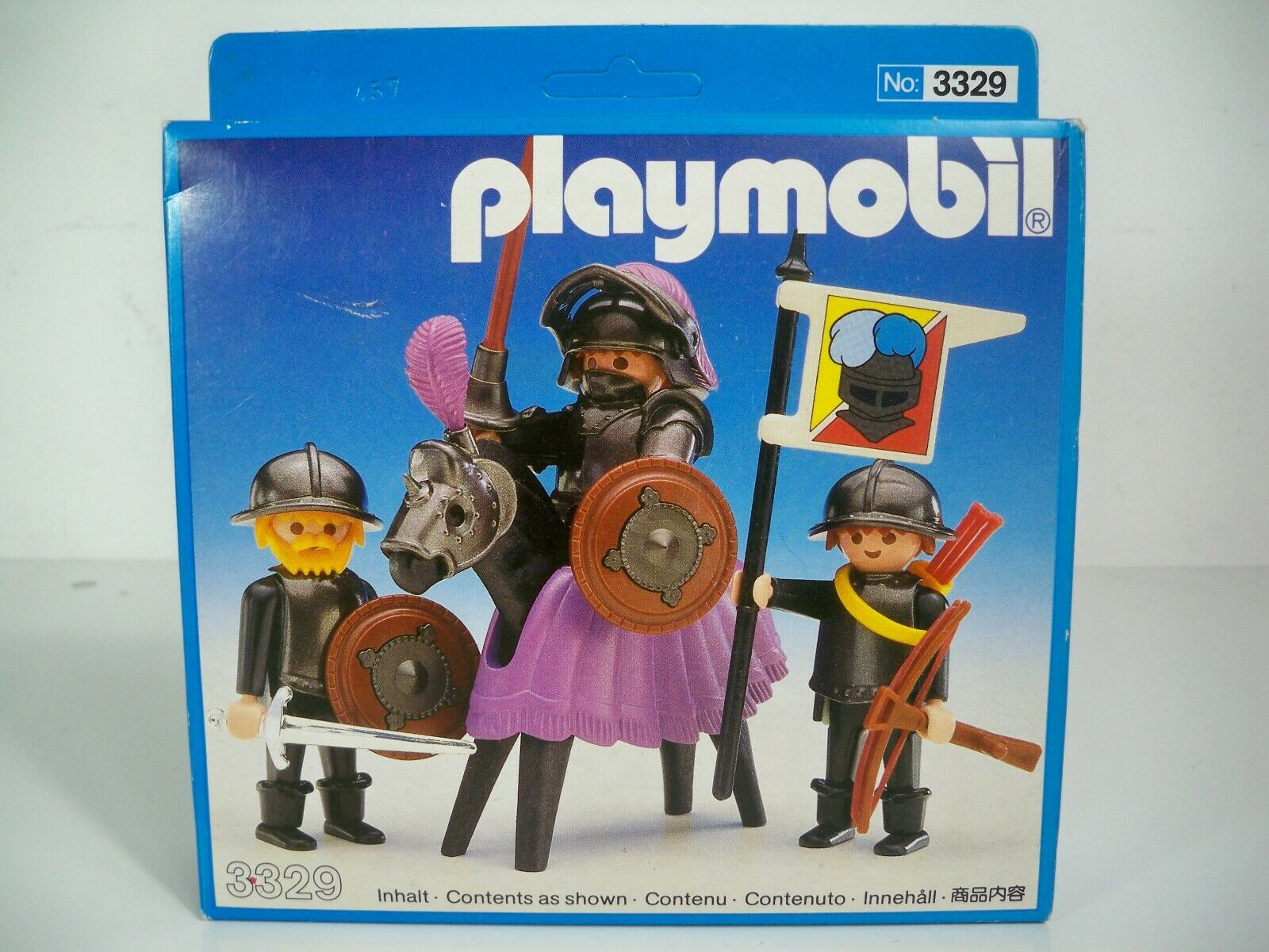K190003 KNGHT &QUIRE SET MISB MINT IN SELVED scatola PLAY MOBIL 3329 VINTAGE