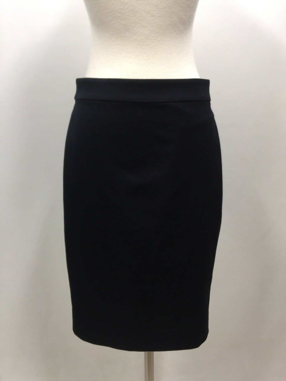 NEW JCrew No 2 Pencil Skirt in Bi-Stretch Cotton Size 0 Navy bluee G0823 suiting