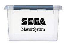 4x sml SEGA MASTER SYSTEM Logo Vinyl Stickers Decals idea for games storage box