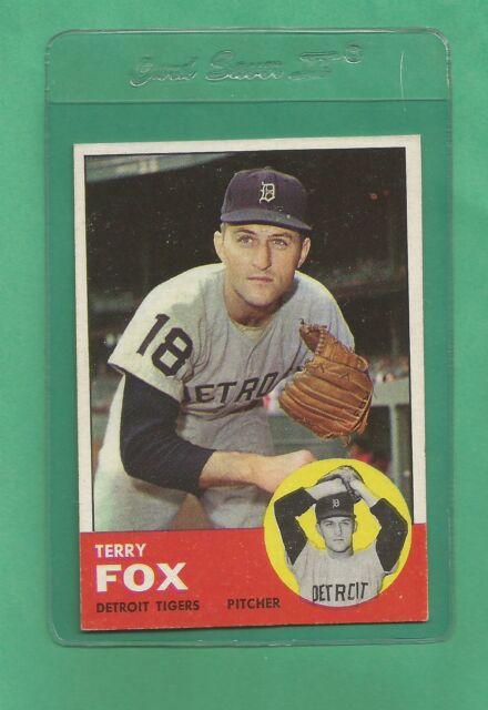 1963 Topps Detroit Tigers Terry Fox # 44 NM Tough Card !!!