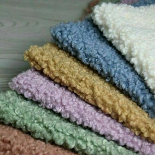 Sherpa Fleece Fabric Lamb Cashmere Faux Wool Warm Apparel Material By Yard Craft