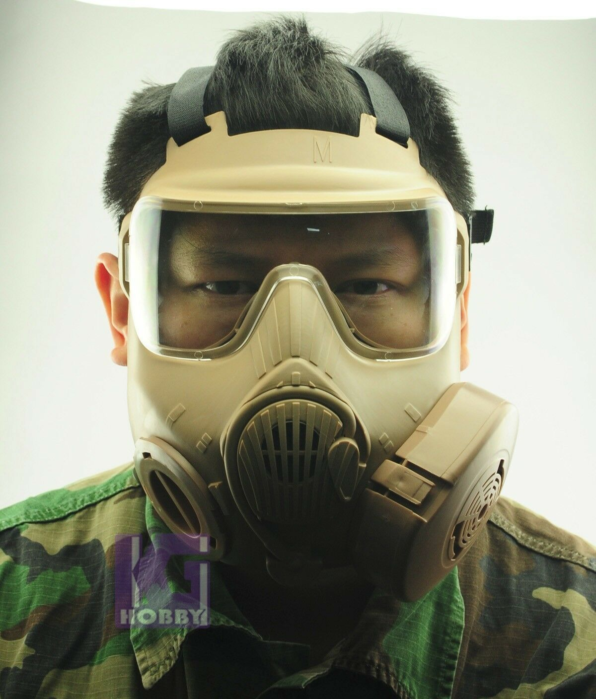 Airsoft Prossoection Twin Fans FOG FREE M50 style full face gas mask Cool FDE GEAR
