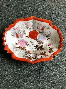 Love-This-Shell-Shaped-With-Saw-Edging-Shell-Shaped-Orange-Floral-Trinket-Bowl