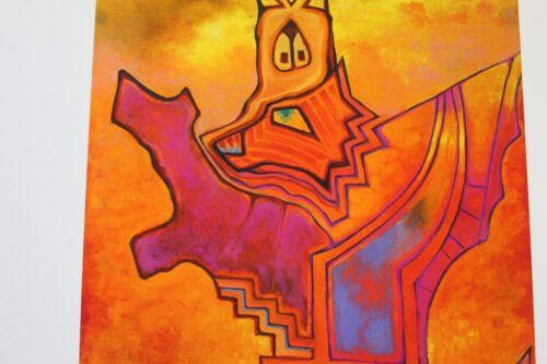 12x9 Inches SIGNED by Jason//Gary Becker Art Print LONE DOG GUITAR KACHINA