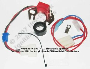 electronic ignition kit for 1966 80 datsun nissan 4 cylinder hitachiimage is loading electronic ignition kit for 1966 80 datsun nissan