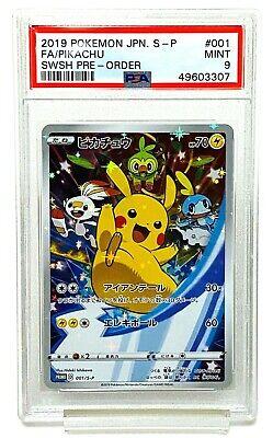 "Pokemon Card Pikachu 001//S-P Sword and Shield Japanese Promo /""NM/"""