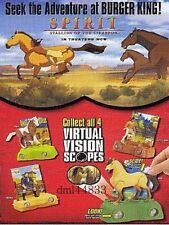 2002 Burger King Spirit - Stallion of the Cimarron MIP Complete Set - Boys/Girls