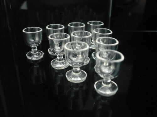 Set of 10 Wine Cup Plastic Dollhouse Miniatures Supply Drink Deco
