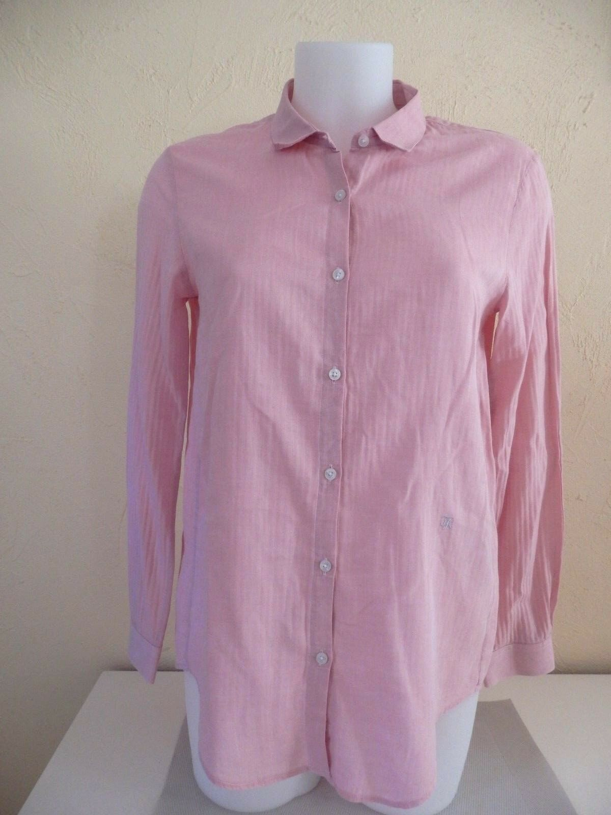 THE KOOPLES - shirt chevron - Size S either 36fr - PINK - 100% cotton