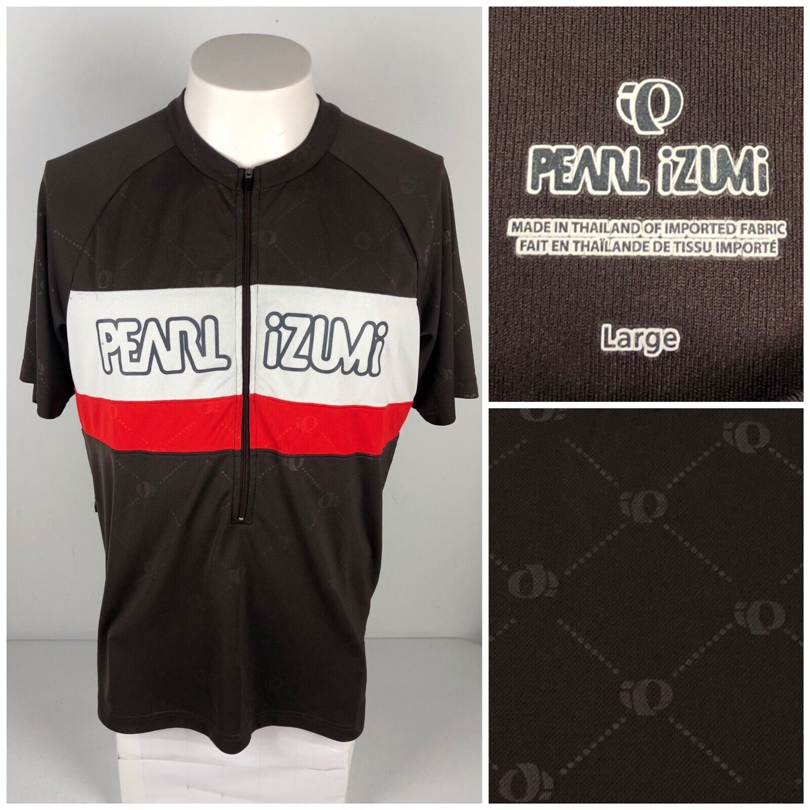 Pearl Izumi Mens Large Cycling  Jersey Multicolor Short Sleeve Monogram Spell Out  up to 50% off