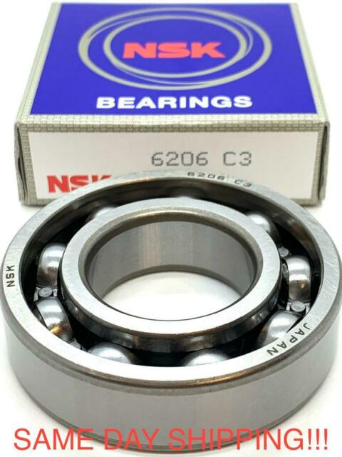 NIB NSK 6206 C3 BEARING NO SHIELDS 6206C3 6206UC3E 30x62x16 mm USA