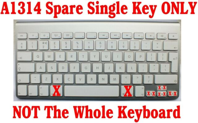 Replacement Genuine Apple Wireless A1314 A1255 Keyboard Spare Key Keys With Clip