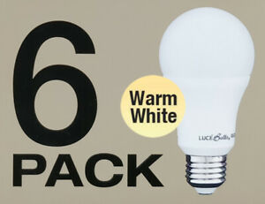 6-x-LED-9W-Light-Globes-Bulbs-Lamps-A60-GLS-E27-Screw-3000K-800Lm