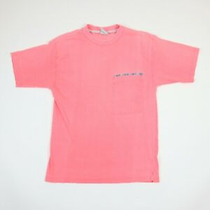 Vtg-90s-PCH-Blank-T-Shirt-MEDIUM-Sun-Faded-Pink-Distressed-Surf-Grunge-Skate