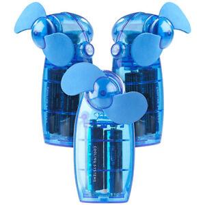 Details zu PEARL Batterie betriebener Mini Hand und Taschen Ventilator, blau, 3er Set