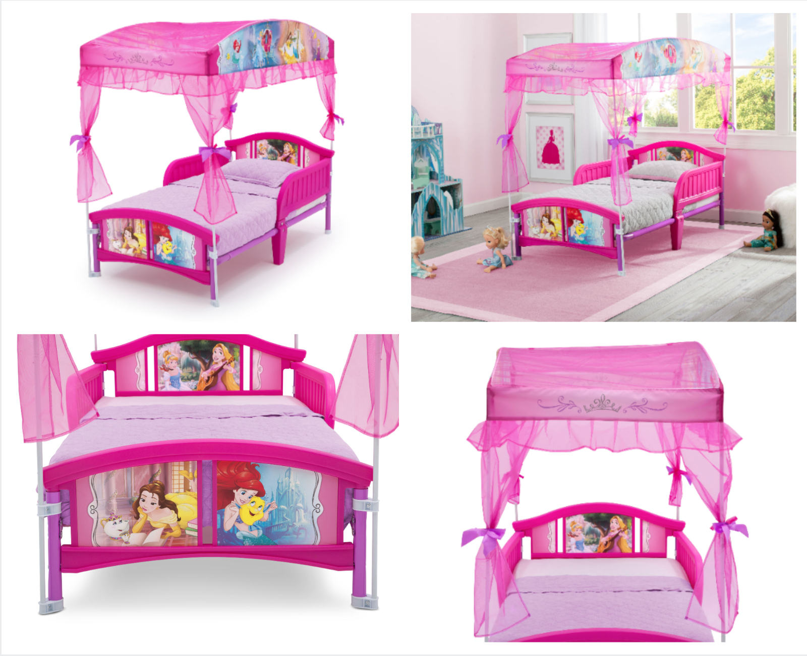 Toddler Bedroom Furniture Set Disney Princess Room Bed Toy For Sale Online Ebay