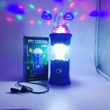 Lantern 1W+6 /& 3 Colour LED CAMPING /& TENT Light 3 in 1 Magic DISCO
