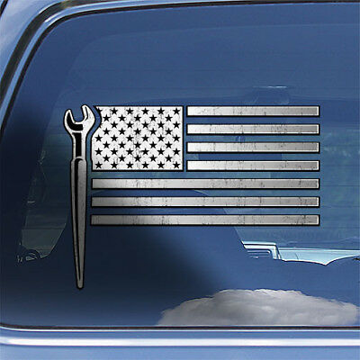 Rodbuster superhero decal American flag concrete reinforcing ironworker sticker