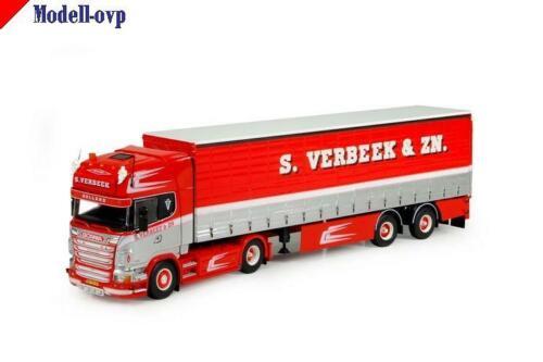 Scania R serie Topline Schiebeplanen Auflieger Verbeek S Tekno 71529 1:50
