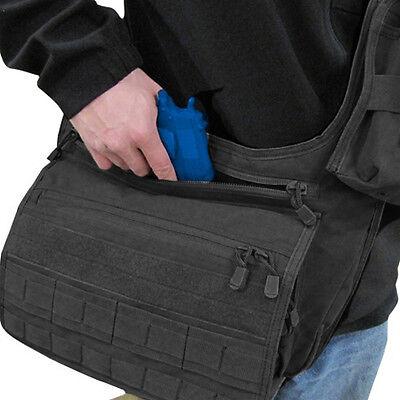 CONDOR MOLLE Conceal Carry Messenger Shoulder Bag 146 - BLACK