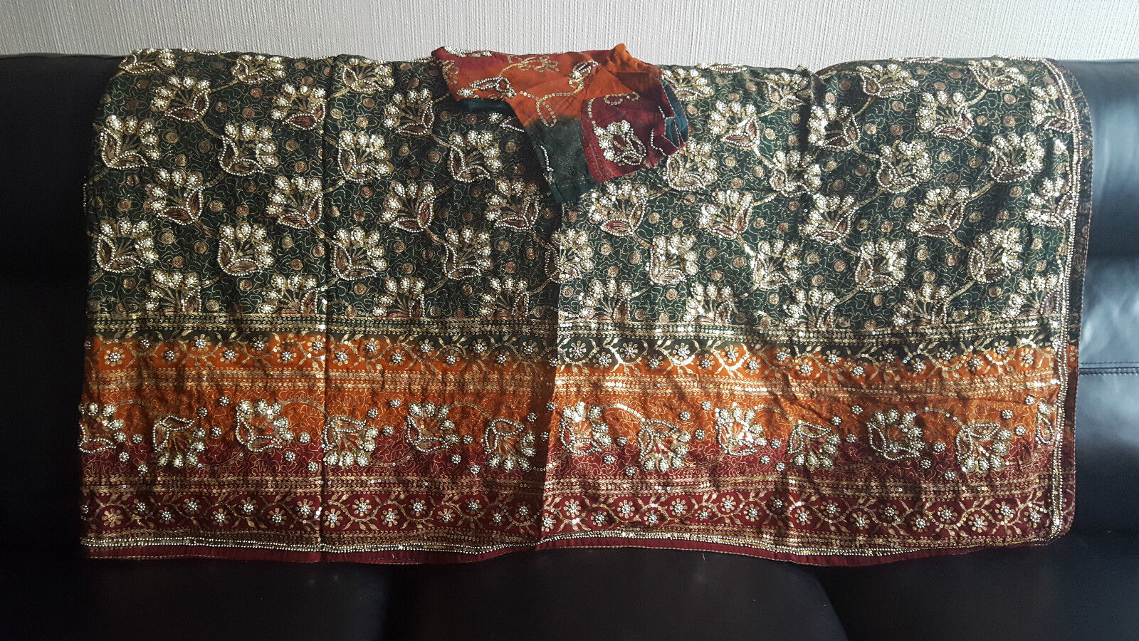 Bollywood Asian Indian saree with blouse size 14-16