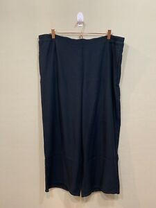 J-Jill-Black-Stretch-Pull-On-Pants-Loose-Wide-Leg-Elastic-Waist-Pockets-Size-XL
