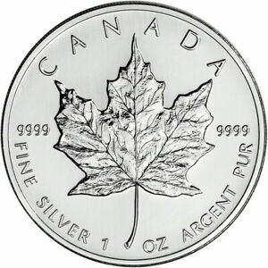 1996-Silver-Maple-Leaf-Canada-Canadian-1-oz-Gorgeous-coin-VERY-RARE-YEAR