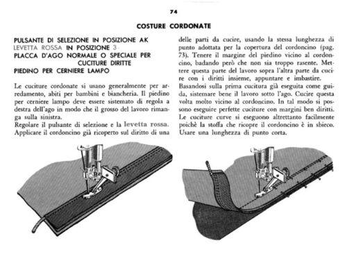 Istruzioni Manuale macchina da cucire SINGER 401//Singer 406 in ITALIANO