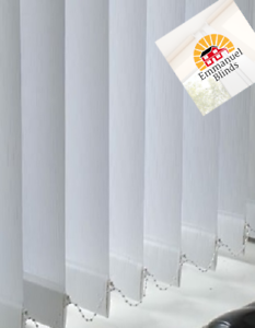 Spring White non blackout patterned vertical blinds made to measure  up to 4mtrs